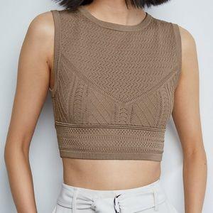 Babaton Pointelle Crop sweater